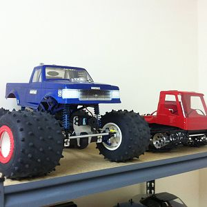 Wheely King Bigfoot + Blizzard Tracked Vehicle